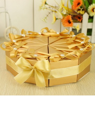 Pyramide Boîtes cadeaux avec Rubans/Pearl