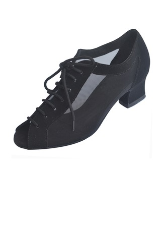 Women's Nubuck Heels Pumps Latin Modern Dance Shoes