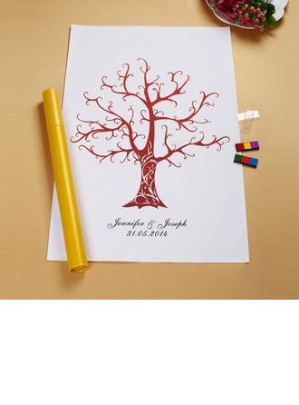 Personalized Brown Tree Canvas Home Décor/Fingerprint Painting