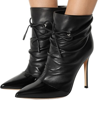 De mujer Cuero Tacón stilettos Salón Botas con Cadena zapatos