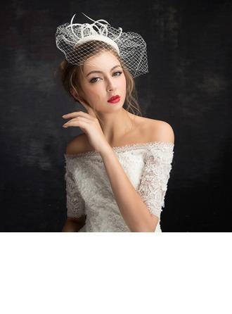 Dames Style Classique Feather/Fil net/Dentelle/Tulle avec Feather Chapeaux de type fascinator