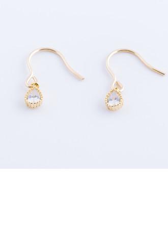 Unique Gold Plated Zircon Women's Fashion Earrings