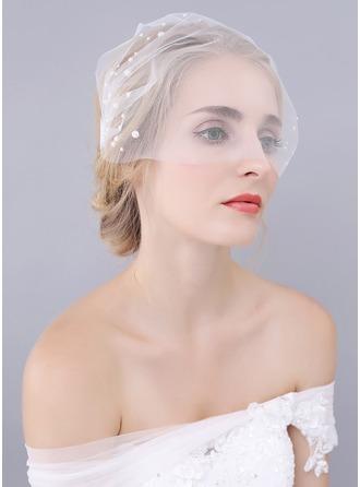 1 couche Bord de coupe Voiles Blush avec De faux pearl