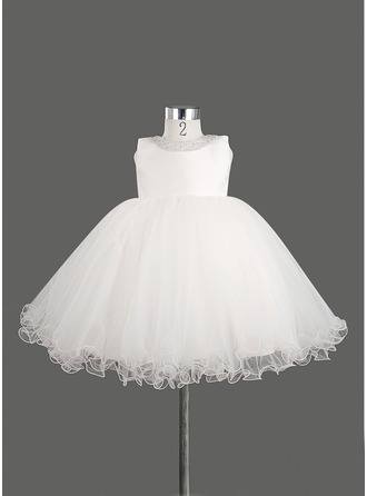A-Line/Princess Satin With Bow(s)