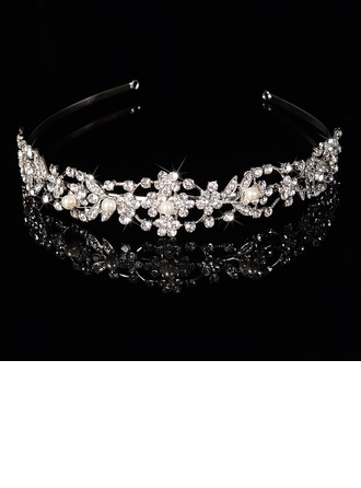Belle Strass/Alliage/Perles d'imitation Tiaras