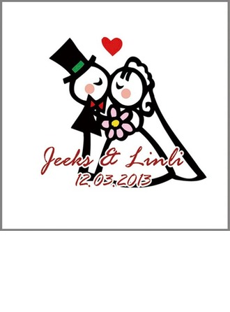 Personalized Bride And Groom PVC Stickers