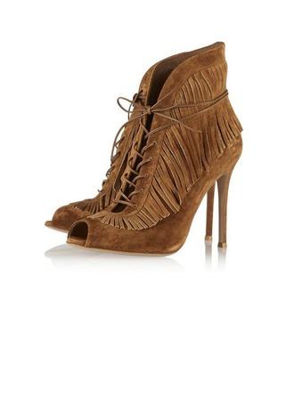 Femmes Suède Talon stiletto Bottines Martin bottes avec Tassel chaussures