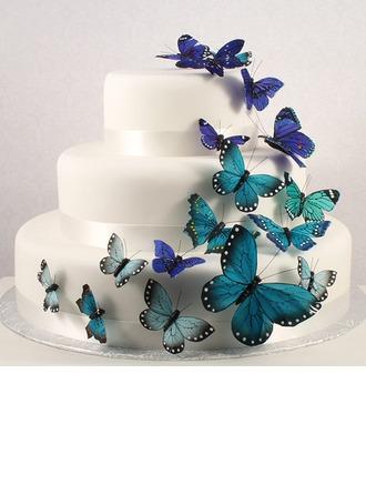 Mariposa PVC Boda Decoración de tortas (Juego de 12)