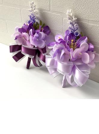 Attrayant Soie artificielle Sets de fleurs ( ensemble de 2) - Corsage du poignet/Boutonnière
