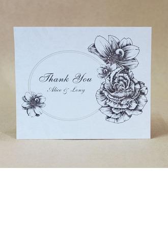 personnalisé Belle Rose Carte papier épais Merci des cartes