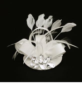 Dames Spécial Tissu avec Feather/Strass Chapeaux de type fascinator