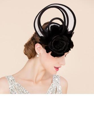 Dames Fantaisie Batiste avec Feather/Fleur en soie Chapeaux de type fascinator