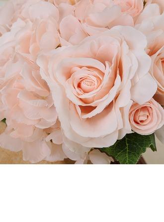 Charme Attaché à la main Satiné Bouquets de mariée/Bouquets de demoiselle d'honneur -