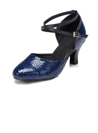 Femmes Vrai cuir Escarpins Modern Style avec Lanière de cheville Chaussures de danse