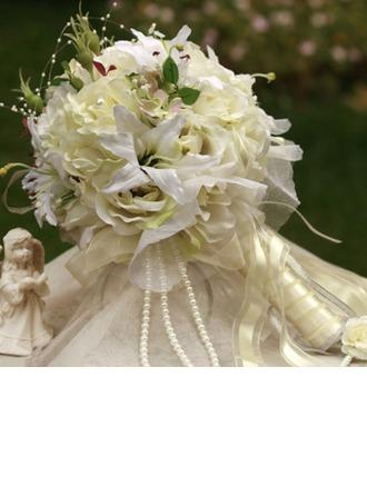 Attrayant Rond Satin Bouquets de Mariée