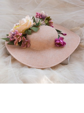 Ladies' Beautiful Spring/Autumn/Winter Cambric/Fabric With Floppy Hat