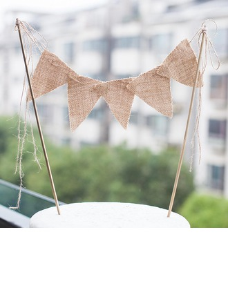 Banner Linen (set of 5,Random Delivery) Wedding Decorations