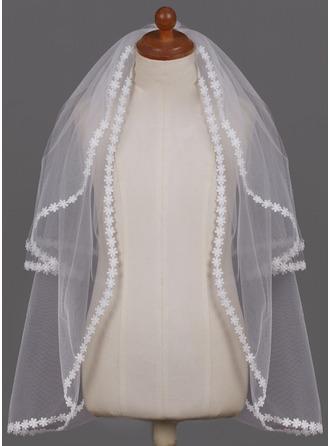 A-Line Slip Ball Gown Slip Flower Girl/Communion Veils Tulle With Applique Flower Girl