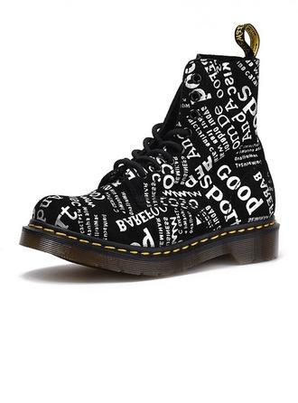 Femmes Vrai cuir Talon bas Bottes Bottines Martin bottes avec La copie Animale chaussures