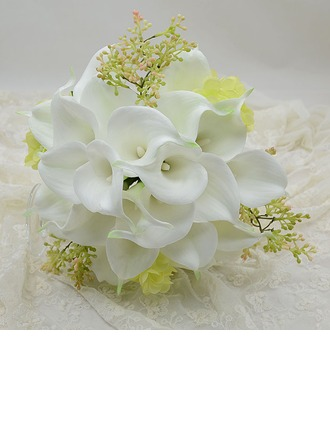 Refined Round Simulation PU Materials Bridal Bouquets