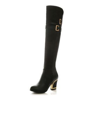 Femmes Similicuir Talon bottier Bottes hautes chaussures