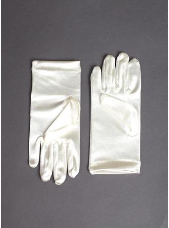 Elastische Satin Wrist Lengte Meisje Van de Bloem Handschoenen