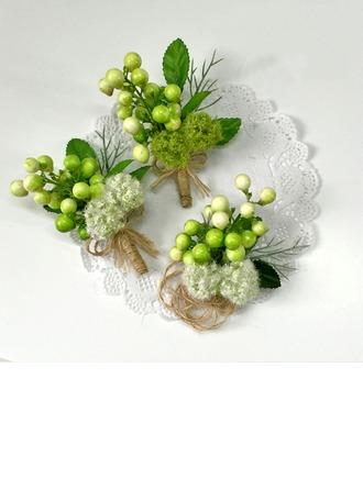 Mignon Soie artificielle Sets de fleurs ( ensemble de 2) - Corsage du poignet/Boutonnière
