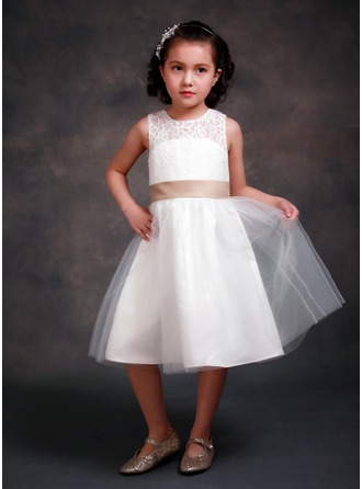 Princess Lace/Tribute silk Girl Dress With Bows