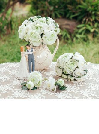 Élégante Rond Soie artificielle Sets de fleurs