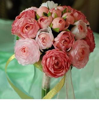 Jolie Rond Satin Bouquets de Demoiselle D'honneur