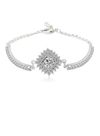"""Luxueux Cuivre/Platinum placage/Niveau Zircon """"AAA"""" Femmes/Dames Bracelets"""