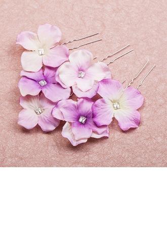 Belle Cristal/Alliage/Tissu épingles à cheveux/Fleurs et plumes