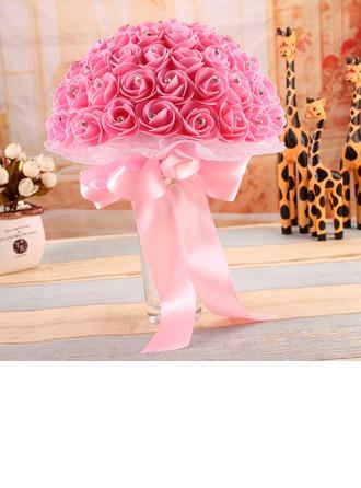 Délicat Rond Satiné/PE Bouquets de mariée