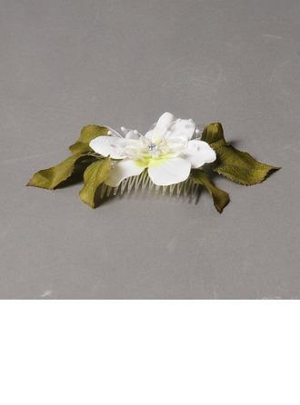 Elegant Rhinestone/Imitation Pearls/Silk Flower Combs & Barrettes