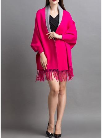 Spandex Wool Nylon Blends Fashion Wrap