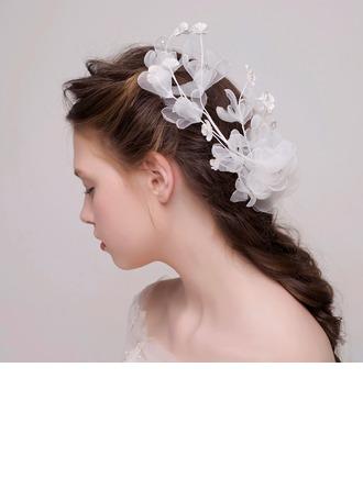 Simple De faux pearl/Fleur en soie/Tulle/Plastique Bandeaux