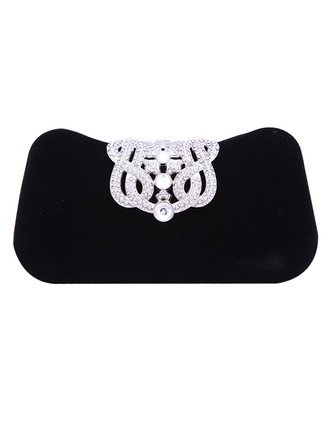 Elegant Crystal/ Rhinestone/Flannelette Material Clutches/Fashion Handbags