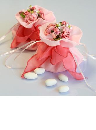 Belle Sacs cadeaux avec Fleurs/Rubans