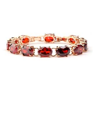 Exquis Cuivre/Zircon de/Plaqué or Dames Bracelets