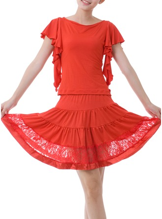 Women's Dancewear Lace Polyester Latin Dance Outfits
