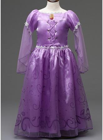 Ball-Gown Cotton Blends Flower Girl Dresses/Daily Dresses