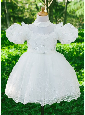 Tulle/Satiné/Paillette avec Bow Robes