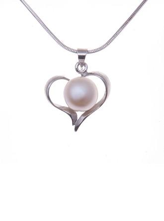 Amor eterno 925 cadena de plata y con Perla De mujer Collares