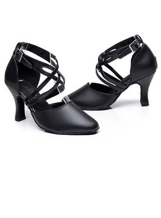 Femmes Vrai cuir Talons Sandales Latin avec Ouvertes Chaussures de danse