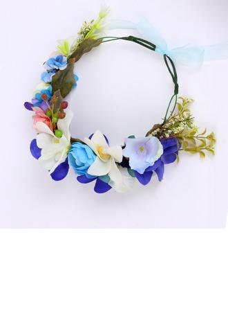Élégante Tissu Fleurs et plumes