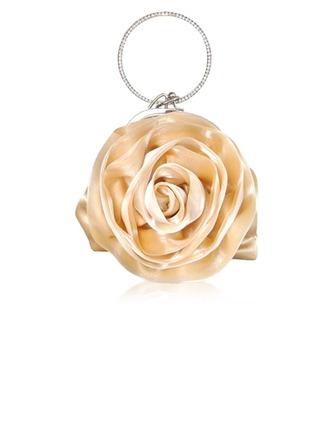 Elegante Seda con Flor Bolso de Mano/Funda de Monedas Para Bodas