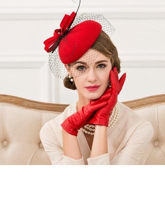 Ladies' Vintage Wool With Feather Fascinators