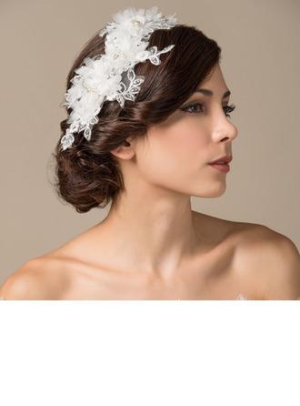 Unique Perles d'imitation/Soie artificielle/Dentelle Fleurs et plumes/Bandeaux