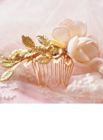 Beautiful Artificial Silk/Copper Combs & Barrettes