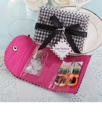 Black & White Houndstooth Sewing Kit With Ribbons